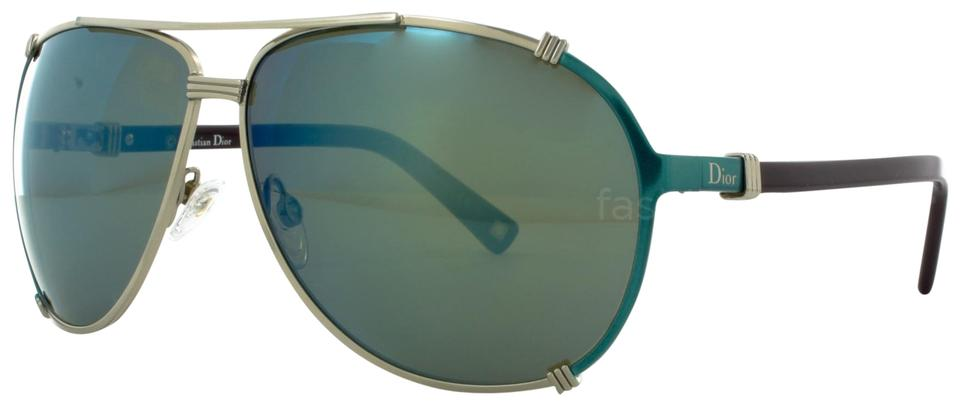516f3cd32552 Dior Blue New Christian Chicago 2 Turquoise Mirrored Aviators Sunglasses