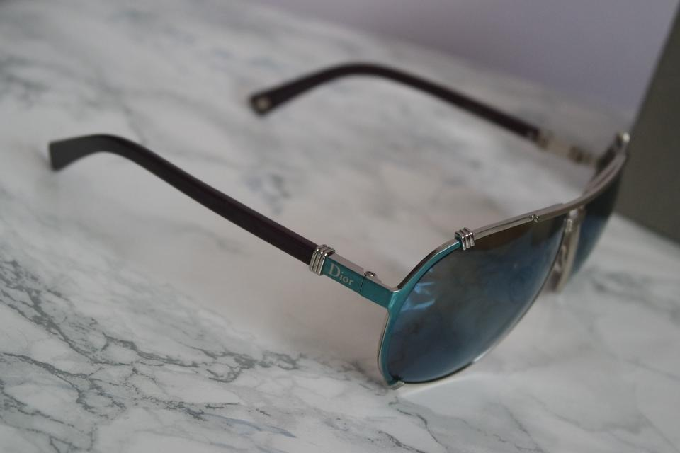 328ee94c40cb Dior NEW Christian Dior DIOR CHICAGO 2 Blue Turquoise Mirrored Aviators  Image 9. 12345678910