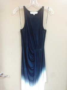 Navy Blue and White Ombre Maxi Dress by Bless'ed are the Meek Dip Dyed High-low