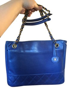 Chanel Tote in Cobalt Blue