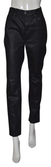 Item - Black Coated New Without Tags Skinny Jeans Size 34 (12, L)