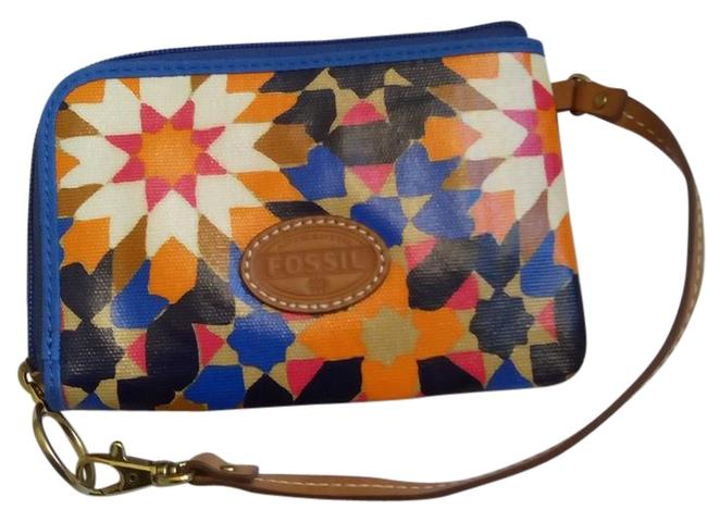Item - Rare Keyper Starburst Wallet Blue Multi Canvas Wristlet