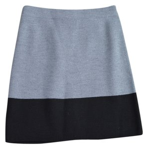 Ann Taylor Sweater Colorblock Skirt Gray