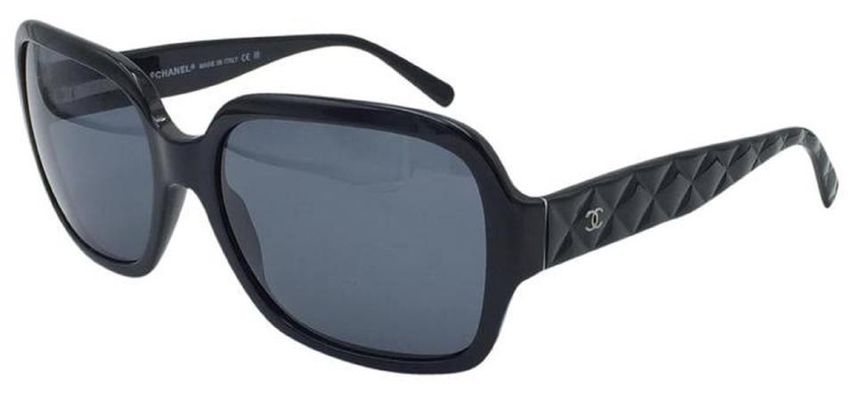 Chanel Black Stunning Quilted 5124 C. 501/87 Sunglasses - Tradesy : quilted chanel sunglasses - Adamdwight.com