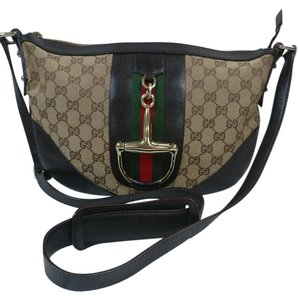 f01ebb8423cb Gucci Messenger Web Leather Cross Body Bag