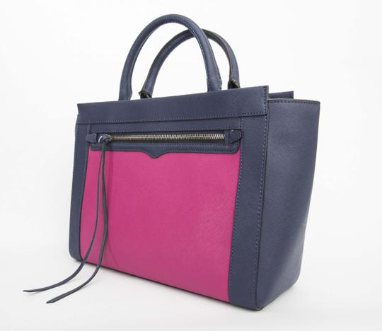 Rebecca Minkoff Leather Tote in Magenta/Navy Image 1