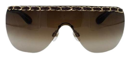 Preload https://img-static.tradesy.com/item/22095480/chanel-tortoisegold-4160-q-brown-and-leather-woven-chain-sunglasses-0-0-540-540.jpg