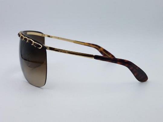 Chanel Chanel 4160-Q Brown and Gold Leather woven Chain Sunglasses Image 2
