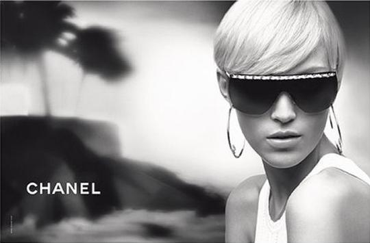 Chanel Chanel 4160-Q Brown and Gold Leather woven Chain Sunglasses Image 4