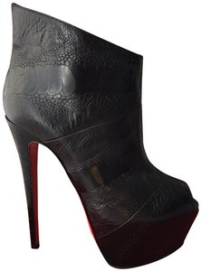 Christian Louboutin High Heels Daffodile Ankle Platform Black Boots