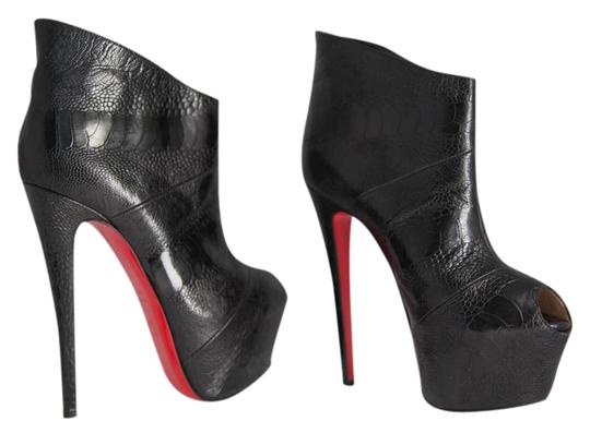Christian Louboutin High Heels Daffodile Ankle Platform Black Boots Image 1