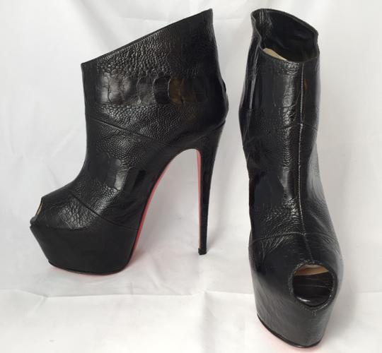 Christian Louboutin High Heels Daffodile Ankle Platform Black Boots Image 3
