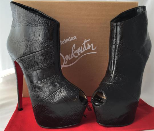 Christian Louboutin High Heels Daffodile Ankle Platform Black Boots Image 4