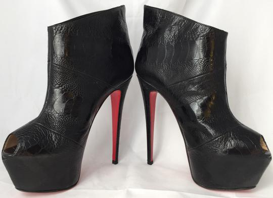Christian Louboutin High Heels Daffodile Ankle Platform Black Boots Image 5