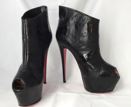 Christian Louboutin High Heels Daffodile Ankle Platform Black Boots Image 9