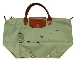 Longchamp Le Pliage Tote in Green/Teal