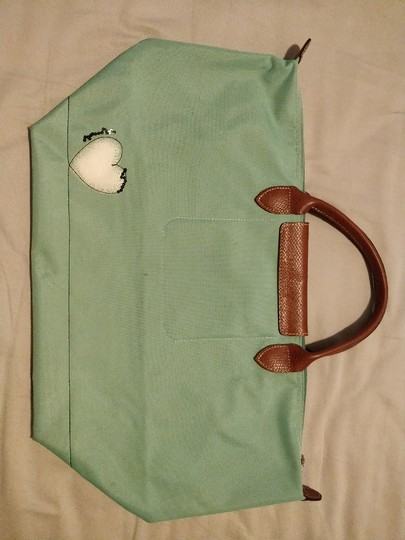 Longchamp Le Pliage Tote in Green/Teal Image 2