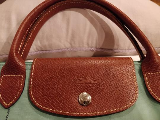 Longchamp Le Pliage Tote in Green/Teal Image 5