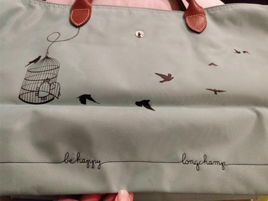 Longchamp Le Pliage Tote in Green/Teal Image 6