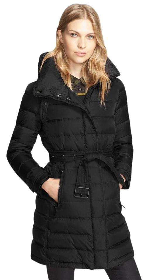 49494978 Burberry Brit Black 'winterleigh' Belted Down Coat Size 8 (M) - Tradesy