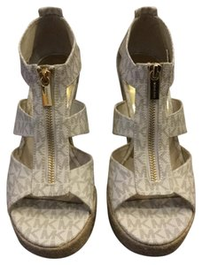 Michael Kors Cream Gold Wedges