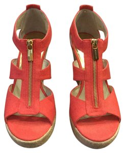 Michael Kors Coral Gold Wedges