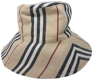 a9ca3c023f5 Burberry Beige Black Multicolor Tan Nova Check Print Bucket Hat ...