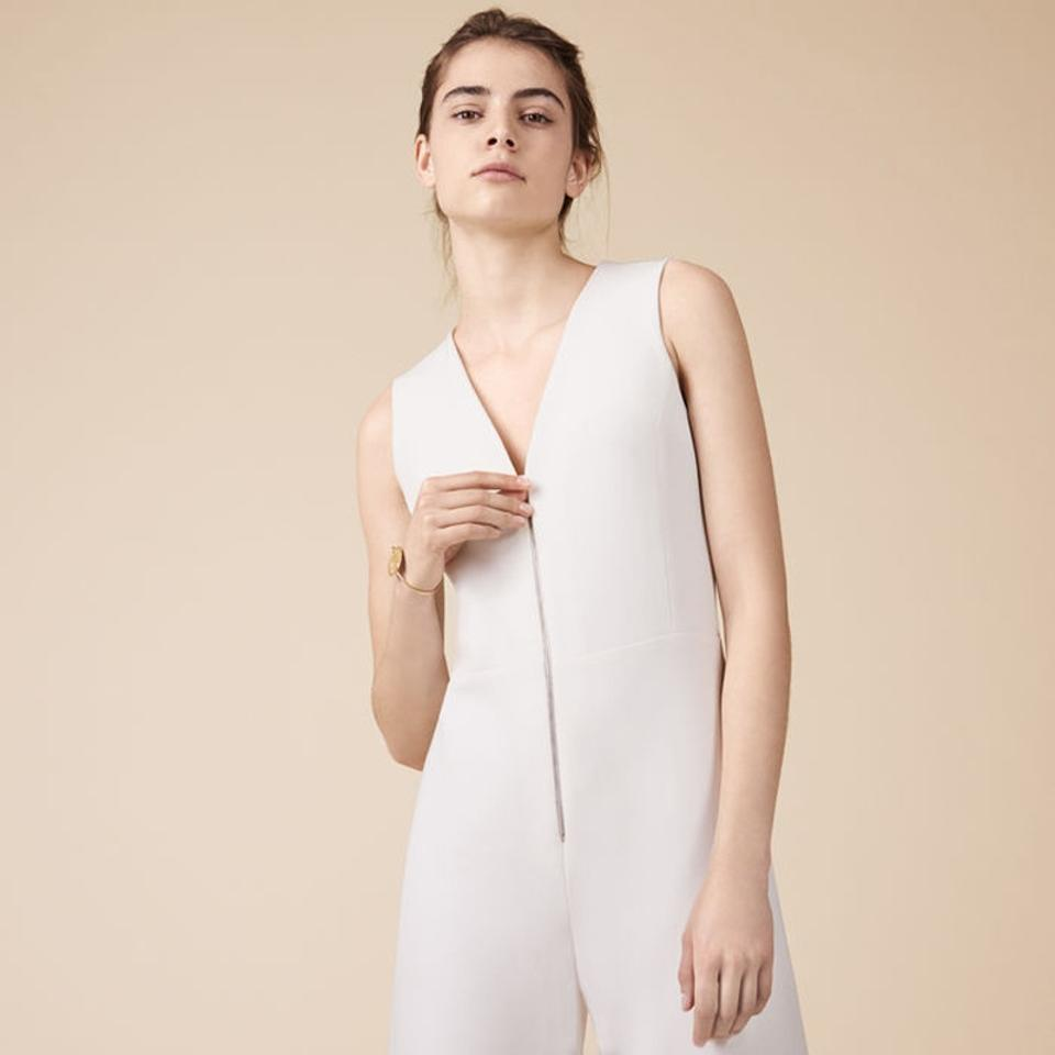 22f24deb79b0 Maje Off White Patou -90s Minimalist In Sleek Wide Leg Cut Romper Jumpsuit  - Tradesy