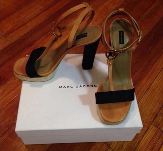 Marc Jacobs Black And Tan Sandals