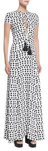 White Maxi Dress by Derek Lam Maxi Silk Formal Blackandwhite Long