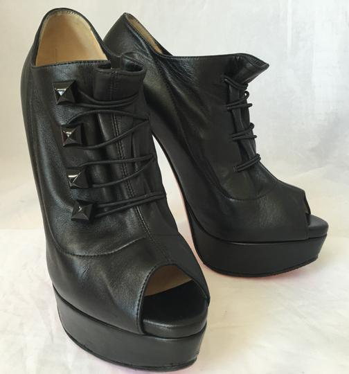 Christian Louboutin High Heel Ankle Pump Black Boots Image 2