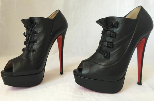 Christian Louboutin High Heel Ankle Pump Black Boots Image 3