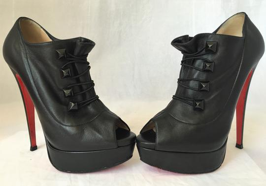 Christian Louboutin High Heel Ankle Pump Black Boots Image 4