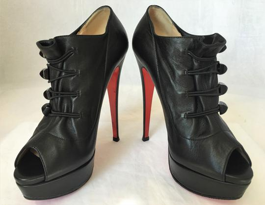 Christian Louboutin High Heel Ankle Pump Black Boots Image 7