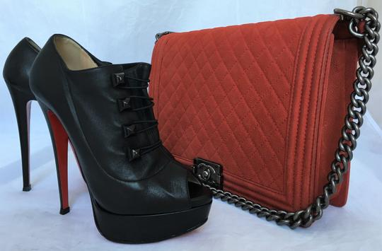 Christian Louboutin High Heel Ankle Pump Black Boots Image 9