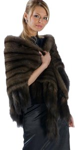 madisonavemall Russian Sable Fur Wrap Stole Cape