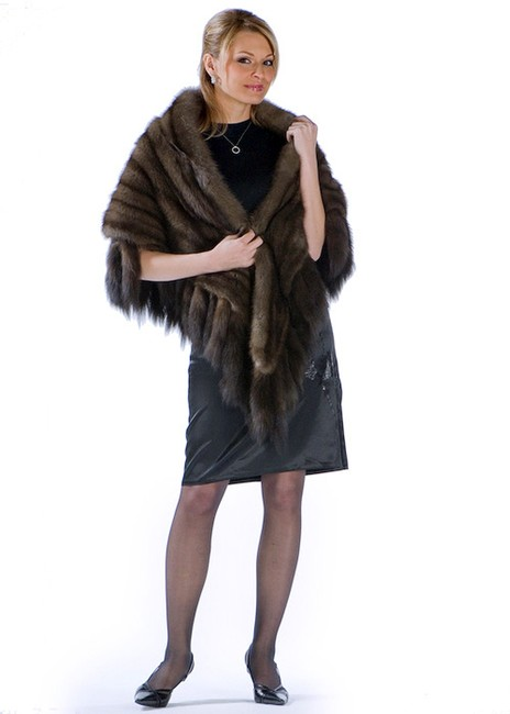 madisonavemall Russian Sable Fur Wrap Stole Cape Image 1
