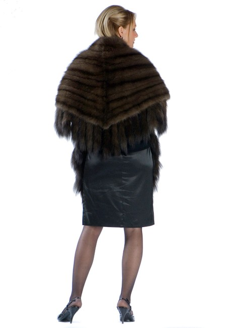 madisonavemall Russian Sable Fur Wrap Stole Cape Image 2