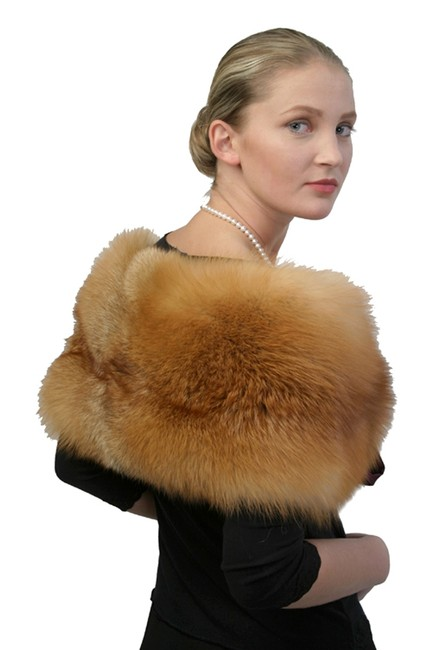 madisonavemall Real Fur Capelet Real Fox Capelet Fox Trim Capelet Natural Fox Capelet Womens Capelet Cape Image 1