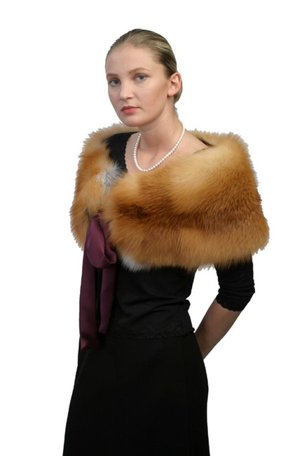 madisonavemall Real Fur Capelet Real Fox Capelet Fox Trim Capelet Natural Fox Capelet Womens Capelet Cape Image 2