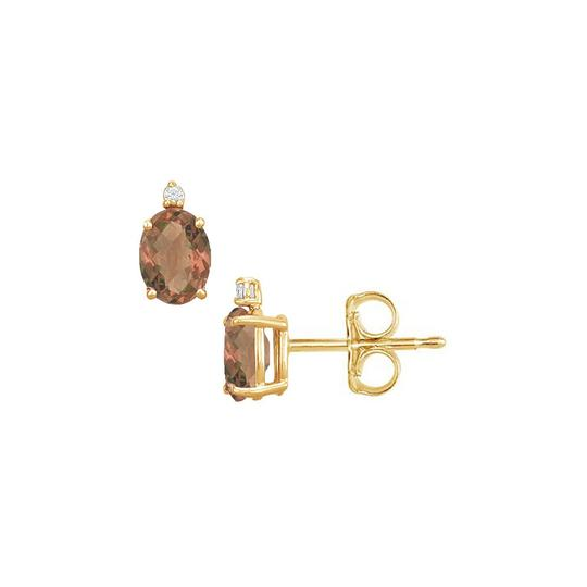 Preload https://img-static.tradesy.com/item/22096250/brown-yellow-june-birthstone-oval-smoky-quartz-and-cz-stud-earrings-0-0-540-540.jpg