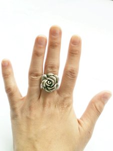 Urban Outfitters Sterling Silver Rose Ring