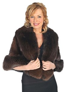 madisonavemall Real Fur Real Fox Real Mink Mink For Womens Fox Trim Cape