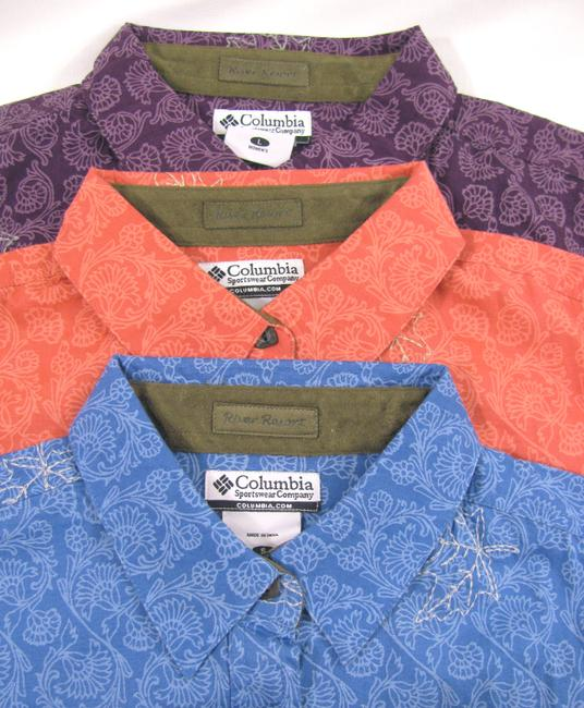 Columbia Sportswear Company Floral Long Sleeve Buttoned New Shirt Coral Cotton Peach S Maple Leaf Print 6 Button Down Shirt pink Image 4