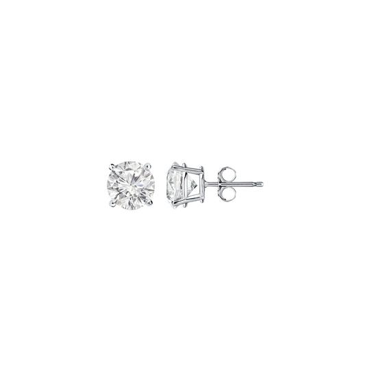 Preload https://img-static.tradesy.com/item/22096437/white-one-carat-april-birthstone-diamond-stud-gold-earrings-0-1-540-540.jpg