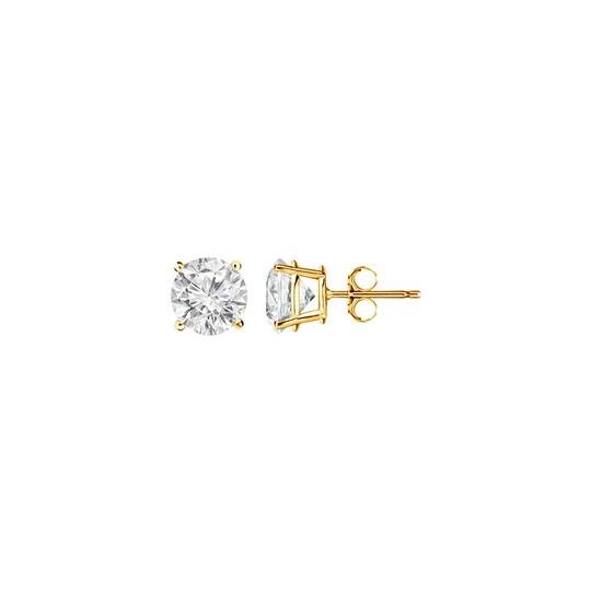 Marco B 1.00 Carat Round Diamond Stud Earrings in Yellow Gold Image 0