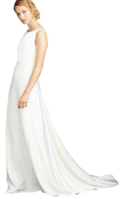 Item - Ivory Silk Percy Modern Wedding Dress Size 4 (S)