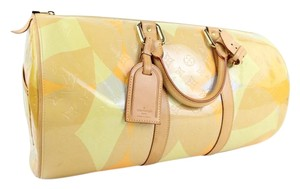 Louis Vuitton Keepall Mercer Carryall Limited Edition Rare Multicolor Travel Bag