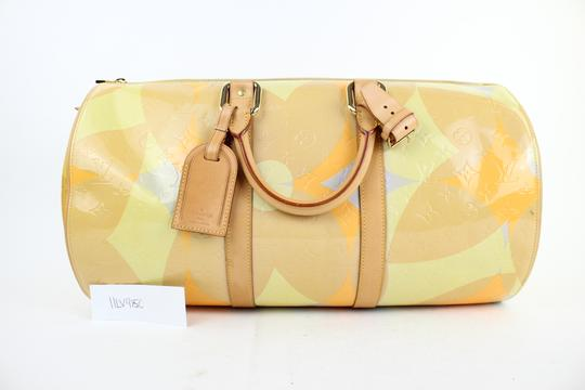 Louis Vuitton Keepall Mercer Carryall Limited Edition Rare Multicolor Travel Bag Image 1