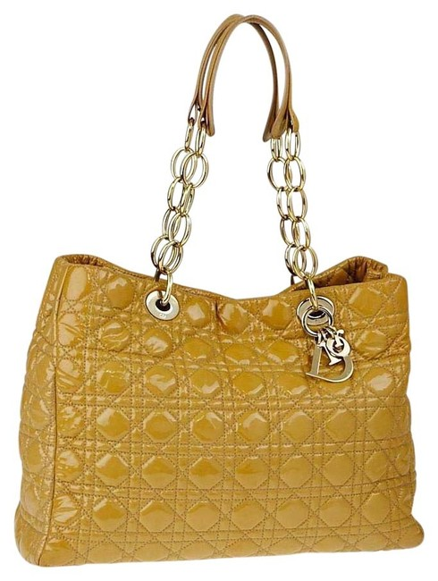 Item - Cannage Quilted Soft Shopping 25cd915c Beige Patent Leather Tote
